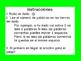 Spanish High Frequency Word Game / Juego de Palabras de al