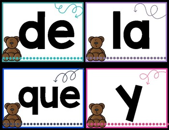 Spanish High Frequency Words
