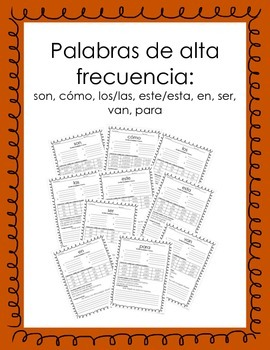 Spanish High Frequency Words  Activity3