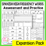Spanish High Frequency Words: Assessment and Practice {Expansion Pack}