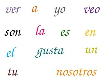 Spanish High Frequency Words- Palabras de Alta Frecuencia
