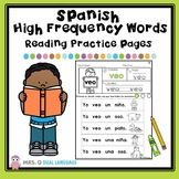 Spanish High Frequency Words  Reading Practice Pages