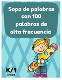 Spanish High Frequency Words Word Search (Sopa de letras P