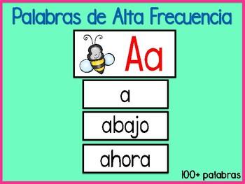 Spanish High Frequency Words/ Palabras de alta frecuencia