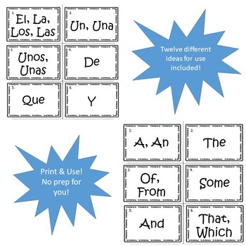 Spanish High Frequency Words and Verbs Bundle