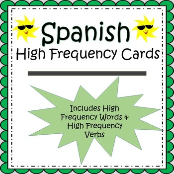 Spanish High Frequency Words and Verbs Cards