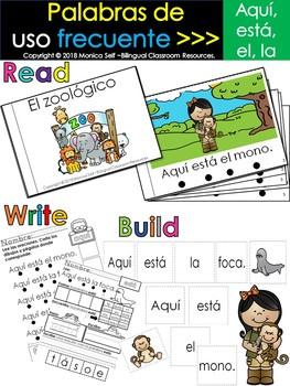 """Spanish High Frequency Words  """"aquí, """"está"""", """"el"""" and """"la"""""""