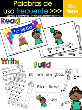"Spanish High Frequency Words ""ella"" and ""tiene"""