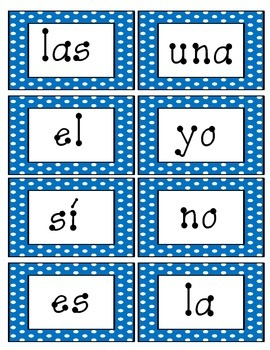Spanish High Frequency Words1