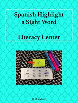 Spanish Highlight a Sight Word Literacy Center FREEBIE