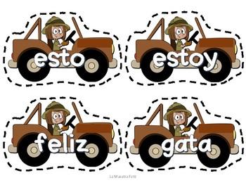 Spanish High Frequency Words game/  Juego de palabras de uso frecuente