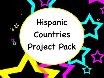 Spanish Hispanic Country Project Packet - Handout, Rubrics, etc.