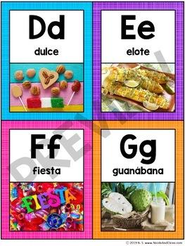 Spanish Hispanic Heritage Alphabet Flashcards