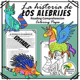 Spanish History of Los Alebrijes Reading Comprehension Coloring Pages