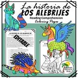 Spanish History of Los Alebrijes Reading Comprehension Coloring Pages