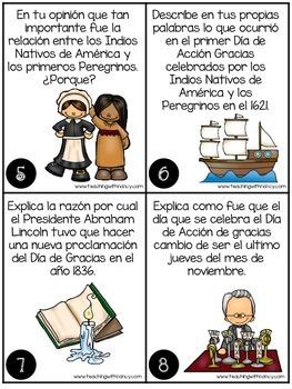 Spanish: History of Thanksgiving