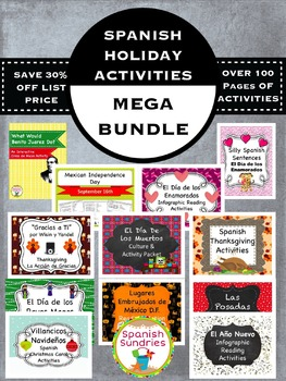 Spanish Holiday Activity Bundle