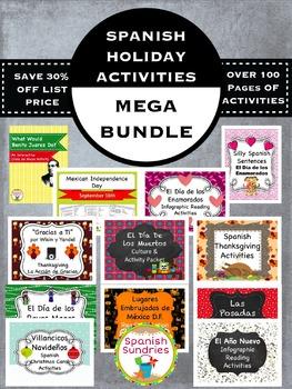 Spanish Holiday Activity Bundle
