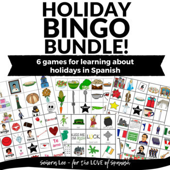 Spanish Holiday Bingo Bundle