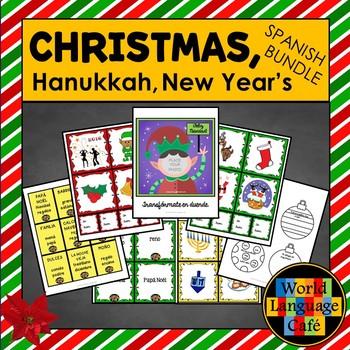 Spanish Christmas, Navidad, Holiday Lesson Plans: Hanukkah, New Year's