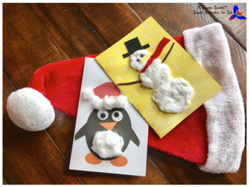 Spanish Holiday Cards Activity! (Snowman and Penguin)