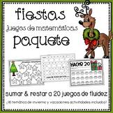 Spanish Holiday Math Games Bundle