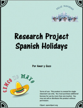 Spanish Holiday Research Project