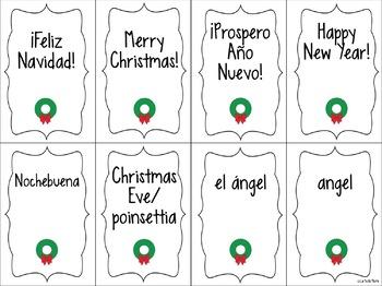 Spanish Holiday Vocabulary ¡Pesca! (Go Fish) Game