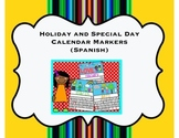 Spanish Holiday and Special Day Calendar Cover Ups