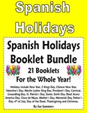 Spanish Holidays 21 Emergent Reader Booklets Bundle for All Year