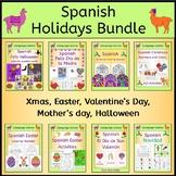 Spanish Holidays Bundle - Xmas, Easter, Valentines day, Mo
