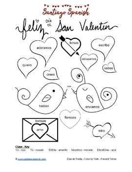 Spanish Holidays Coloring Pages Present Tense