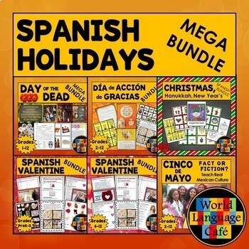 Spanish Holidays Lesson Plans Growing Bundle