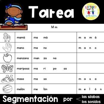 Spanish Homework: 006: TAREA Segmentación por sílabas y sonidos