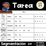 Spanish Homework: TAREA Segmentación por sílabas y sonidos