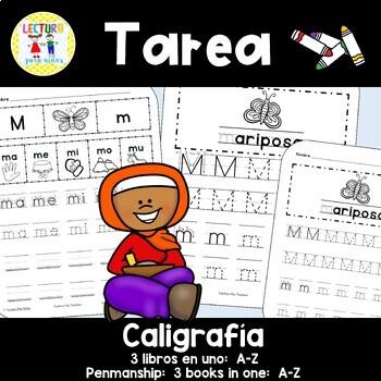 Spanish Homework  008: TAREA Caligrafía A-Z  Penmanship