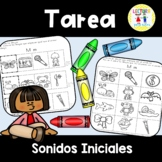 Spanish Homework  009:  TAREA Sonidos iniciales - Initial Sounds