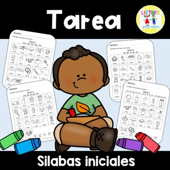Spanish Homework  011: TAREA Sílabas Iniciales  Beginning Syllables