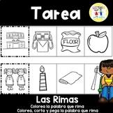 Spanish Homework  015:  TAREA Las Rimas:   Spanish Rhyming