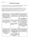 Spanish Homework Bingo: Family Unit