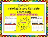Printable and Editable Calendars in Spanish 2018-2019