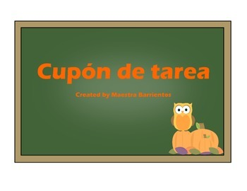 Spanish Homework Pass - Cupón de Tarea