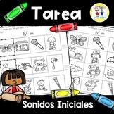 Spanish Homework: TAREA Sonidos iniciales - Initial Sounds