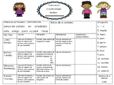 Spanish Homework Template- Free