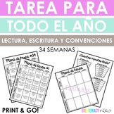 Spanish Homework Yearlong - Reading Writing Conventions
