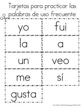 Spanish Language Arts/Math Homework for Kindergarten or First Grade: September