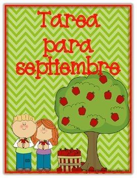 Spanish Language Arts/Math Homework for Kindergarten or Fi