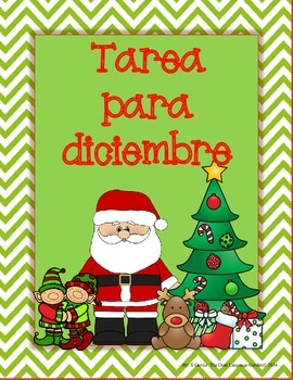 Spanish Homework for Kindergarten/1st Grade: December Span