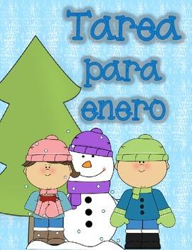 Spanish Homework for Kindergarten/1st Grade: January Spani