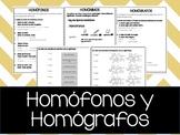 Homófonos y Homógrafos en Español
